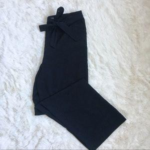 Banana Republic Wide leg black bow tie dress pant